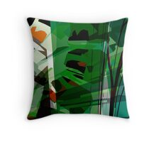 Greeny leafy graphic design Throw Pillow