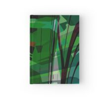 Greeny leafy graphic design Hardcover Journal