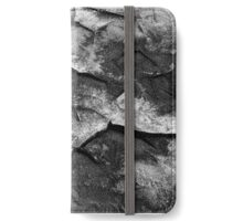 Abstract Rock Black and White iPhone Wallet/Case/Skin
