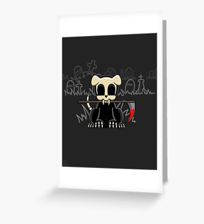 Grim Reapets - A Dog Named Decay - Blood Variant - Grim Pets Greeting Card