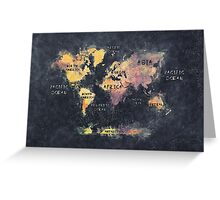 world map 12 Greeting Card