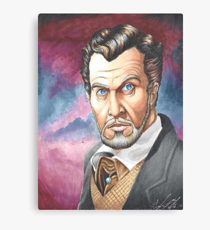 Vincent Price, The Master of Horror Canvas Print