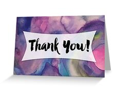 Thank You Card with Watercolor Background, 01 Greeting Card