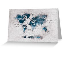 world map 13 Greeting Card
