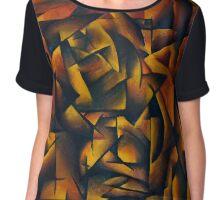 Modern Analytic Cubism Chiffon Top