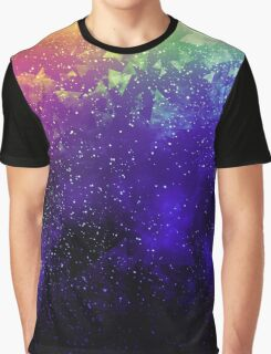 Rainbow Cyberspace Graphic T-Shirt