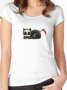 Grim Reapets - A Cat Named Coffin - Blood Variant - Grim Pets Women's Fitted Scoop T-Shirt