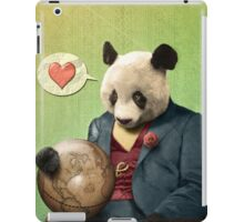 Wise Panda: Love Makes the World Go Around! iPad Case/Skin
