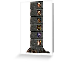 Mortal Kombat Trilogy Tower  Greeting Card