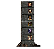Mortal Kombat Trilogy Tower  Photographic Print