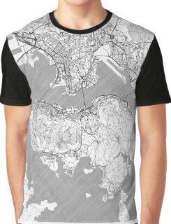 Hong Kong Map Line Graphic T-Shirt