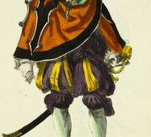 Habit of a Swiss Magistrate in 1577 Magistrat Suisse 260 Sticker
