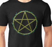Pentacle with flowers Unisex T-Shirt