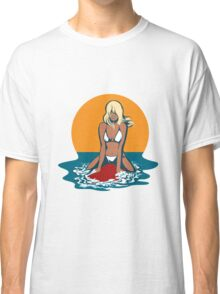 Surfer girl emblem Classic T-Shirt