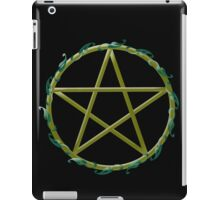 Pentacle with flowers iPad Case/Skin