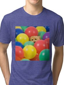 Ted overwhelmed in the ball pool - square Tri-blend T-Shirt