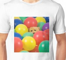 Ted overwhelmed in the ball pool - square Unisex T-Shirt