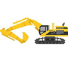 Excavator - The Kids' Picture Show - 8-Bit Photographic Print