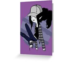 Marceline Hipster - Adventure time Greeting Card
