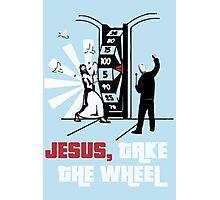 Jesus Take The Wheel Photographic Print