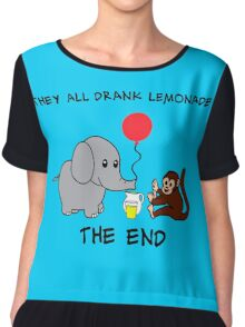 The Elephant Who Lost His Balloon Chiffon Top