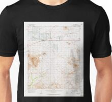 USGS TOPO Map Arizona AZ Aguila 314299 1962 62500 Unisex T-Shirt