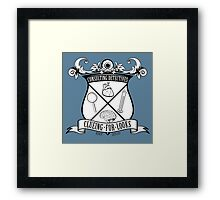 Sherlock's School of Clueing Framed Print