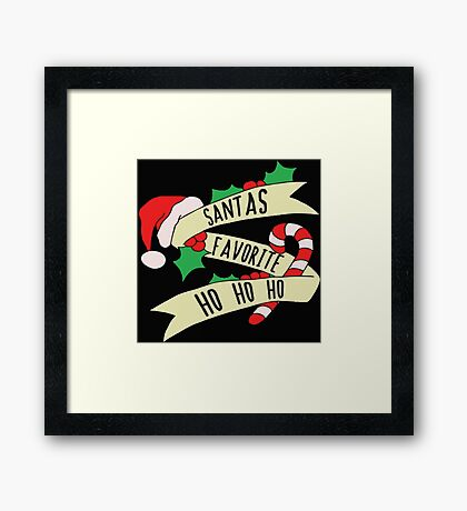 Santa Ho Ho Ho Framed Print
