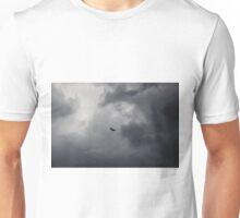 Buzzard flying in stormy sky Unisex T-Shirt