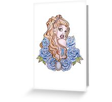 A Rose by Any Other Name - Fantasy Pinup Tattoo Art Greeting Card