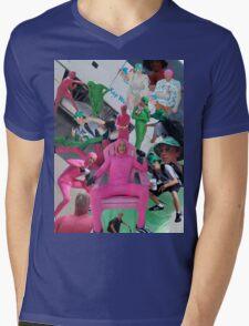 Pink Dude Shirt Mens V-Neck T-Shirt