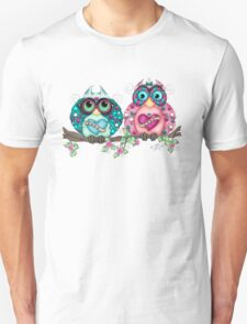 Spring Fling Owl Pair Unisex T-Shirt
