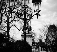 Paris lamp posts by visualimagery