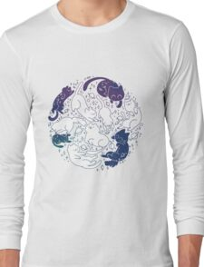 Space Cats- Version 2 Long Sleeve T-Shirt