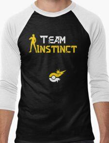 Team Instinct Spark Pokemon Go Men's Baseball ¾ T-Shirt