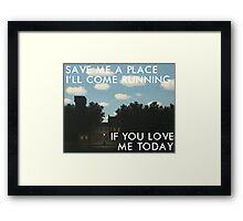 save me a place (magritte) Framed Print