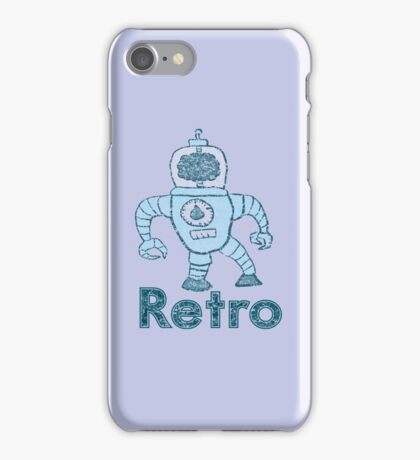 Retro Robot  iPhone Case/Skin
