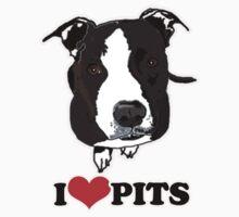 I Love Pit Bulls Kids Tee