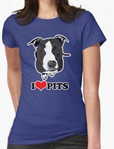 I Love Pit Bulls Womens Fitted T-Shirt