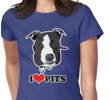 I Love Pit Bulls Womens Fitted T-Shirt
