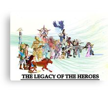 The Legacy of the Heroes Canvas Print