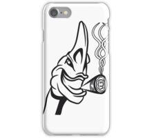 Monster witzig vogel witzig kiffen joint  iPhone Case/Skin