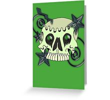 Skull with spirals & stars Greeting Card
