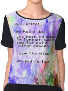 Dear Wine Chiffon Top