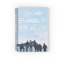 BTS Signature light blue Edit Spiral Notebook