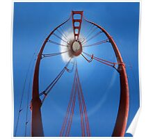 Curvy Golden Gate Bridge Poster