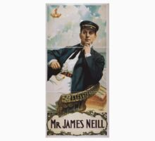 Performing Arts Posters Mr James Neill 1898 Kids Tee