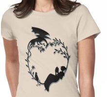 Ex Libris - Black with shadow Womens Fitted T-Shirt