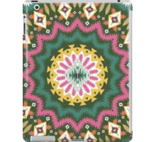 Ornamental round ethnic geometric pattern, circle background  iPad Case/Skin