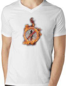 Travis Scott No Bystanders Chain Mens V-Neck T-Shirt